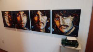 レゴブロックのビートルズの画像